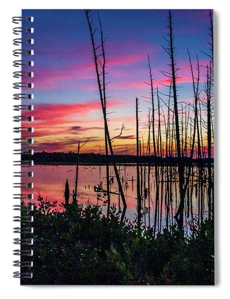 Sunset At Frankin Parker Spiral Notebook by Louis Dallara