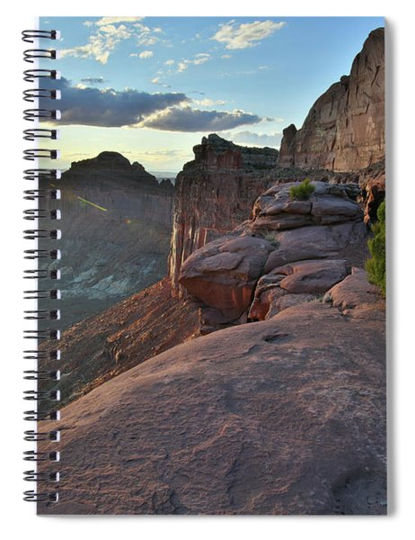 Sunset At Green River Overlook In Canyonlands Np Spiral Notebook