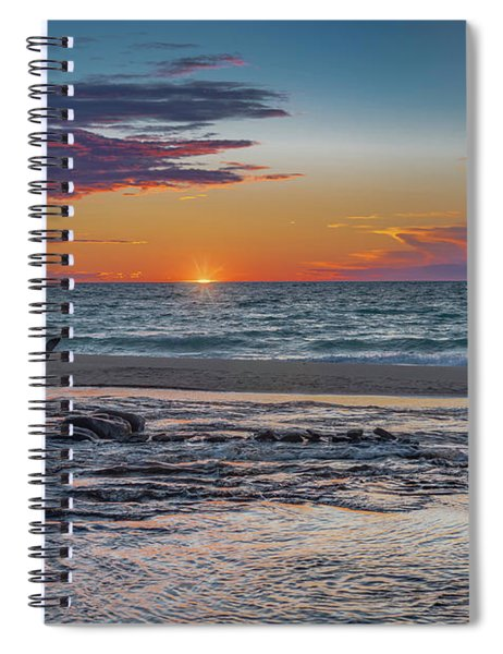 Sunset At Hurricane River Spiral Notebook