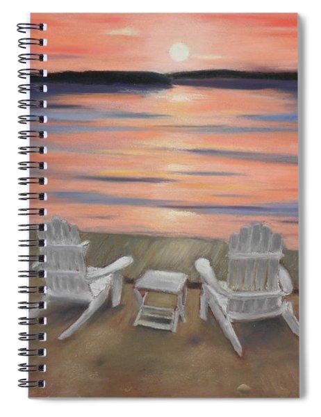 Sunset At Mairs Spiral Notebook