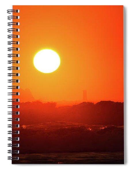 Sunset At Pointe Du Raz Spiral Notebook