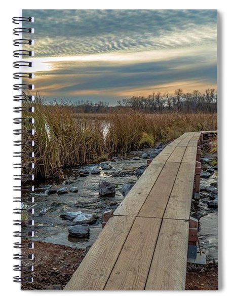 Sunset At Purgatory Creek Spiral Notebook