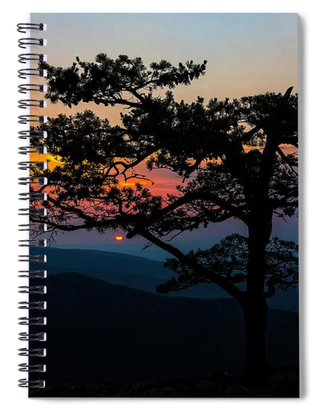 Sunset At Ravens Roost Spiral Notebook