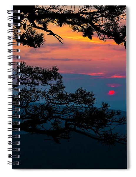 Sunset At Ravens Roost II Spiral Notebook