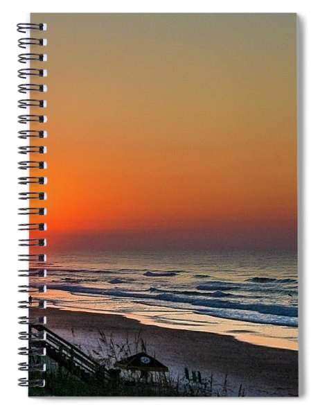 Sunset At Surf City Nc Spiral Notebook