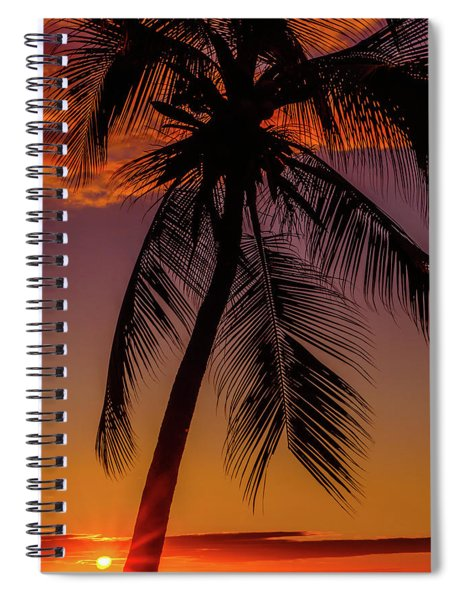 Sunset At The Palm Spiral Notebook
