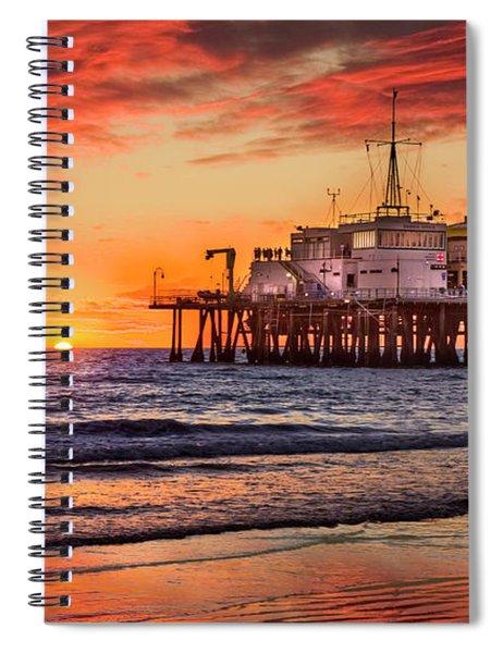Sunset At The Pier Spiral Notebook