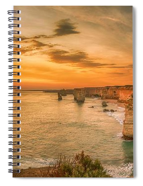 Sunset At The Twelve Apostles Spiral Notebook