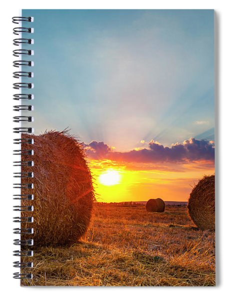 Sunset Bales Spiral Notebook