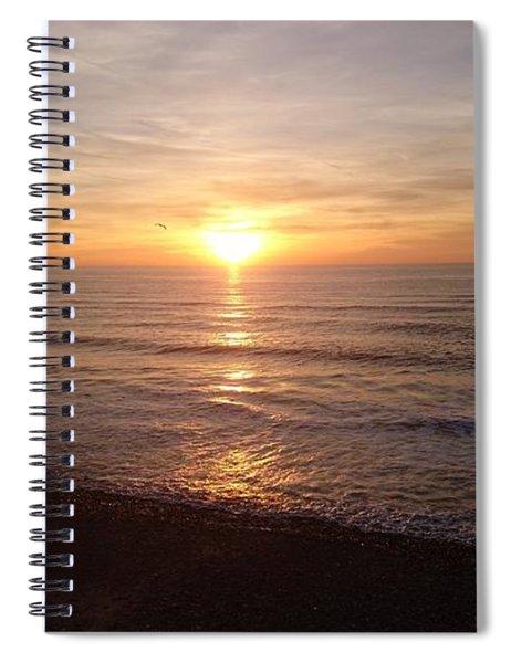 Sunset Blackpool Spiral Notebook