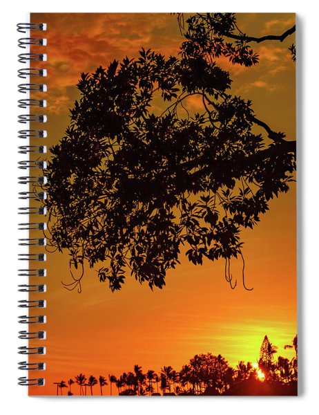 Sunset By The Pier Spiral Notebook