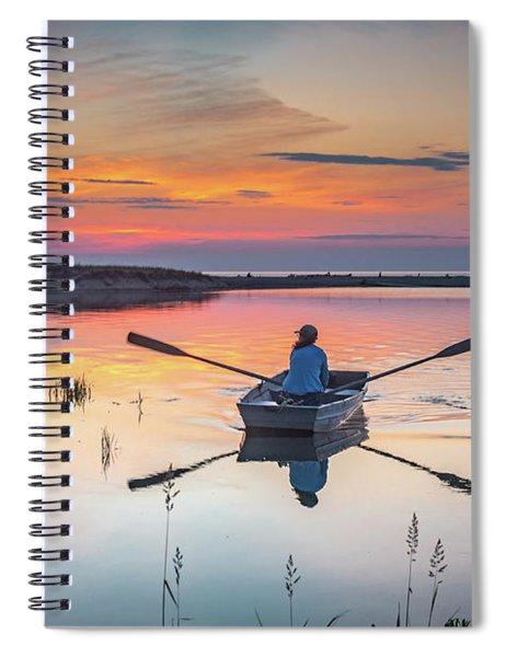 Sunset  Crossing Spiral Notebook