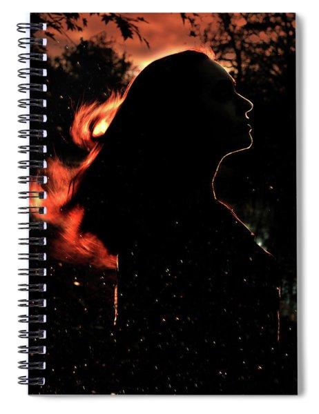 Sunset Fire Spiral Notebook
