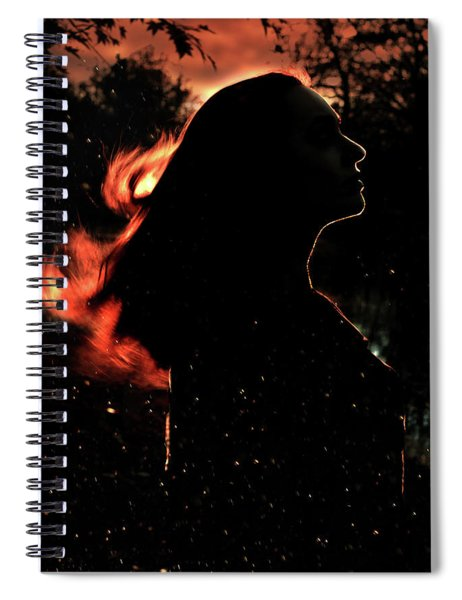 Sunset Fire Spiral Notebook