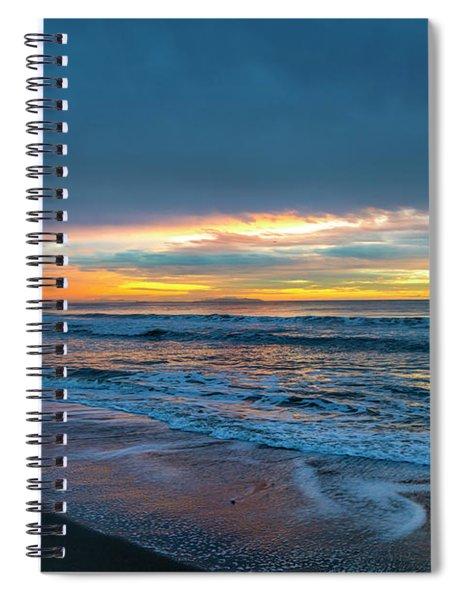 Sunset Fire Over Catalina Island 2 Spiral Notebook