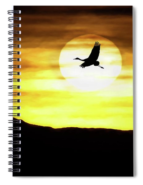 Sunset Flyway Spiral Notebook