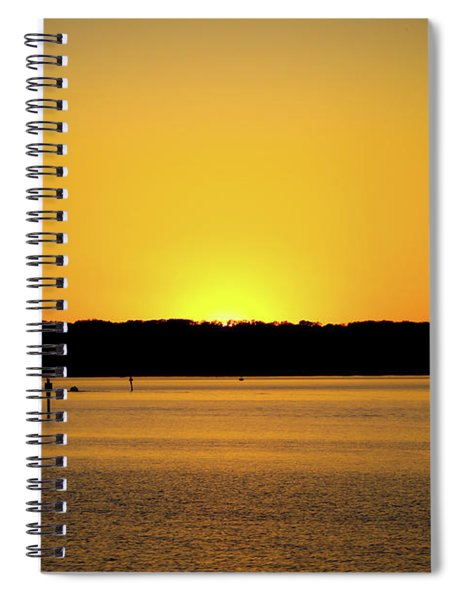 Sunset From National Harbor Spiral Notebook
