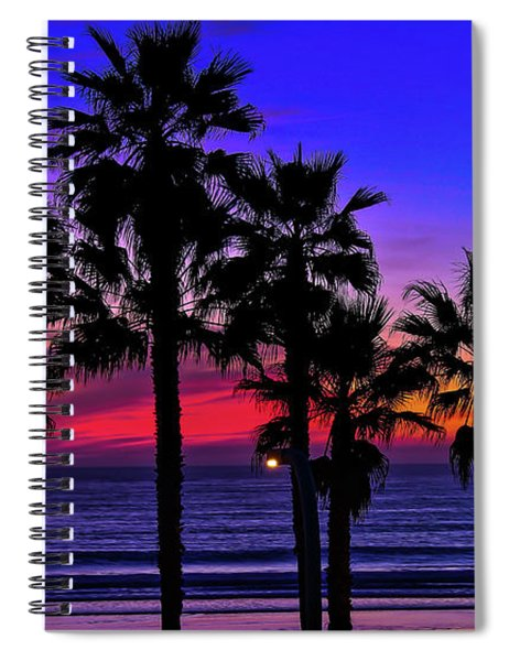 Spiral Notebook featuring the photograph Sunset From The Ocean Park Inn by Robert Bellomy
