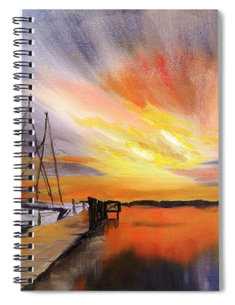Sunset Harbor Spiral Notebook