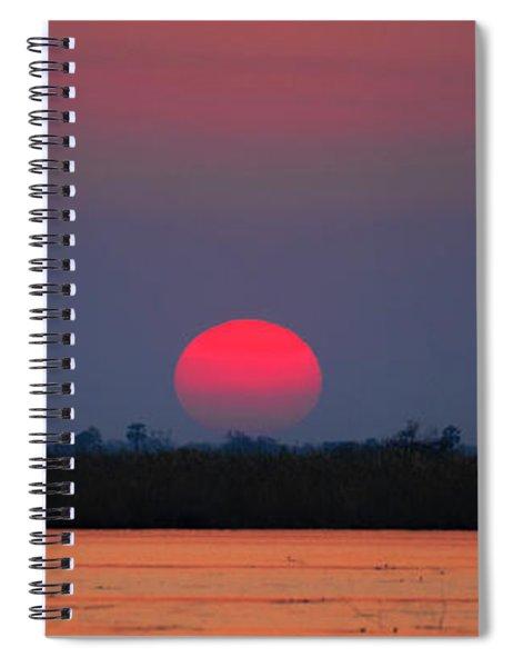 Sunset In Botswana Spiral Notebook