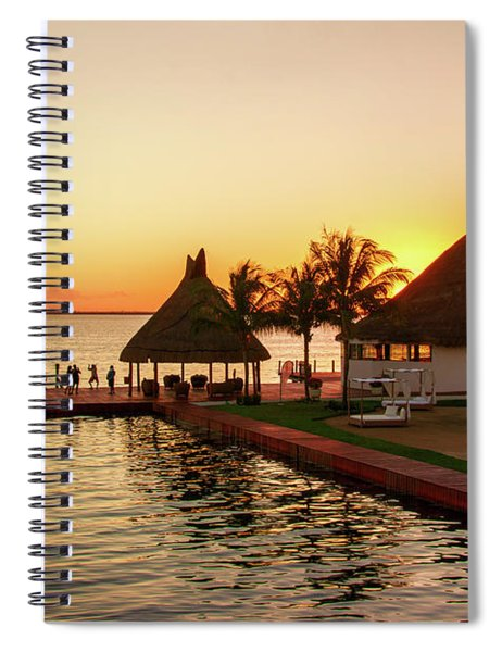 Sunset In Cancun Spiral Notebook