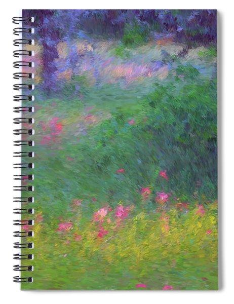 Sunset In Flower Meadow Spiral Notebook