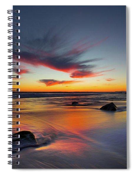Sunset In Malibu Spiral Notebook