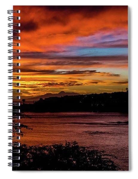 Sunset In Praia, Cape Verde Spiral Notebook