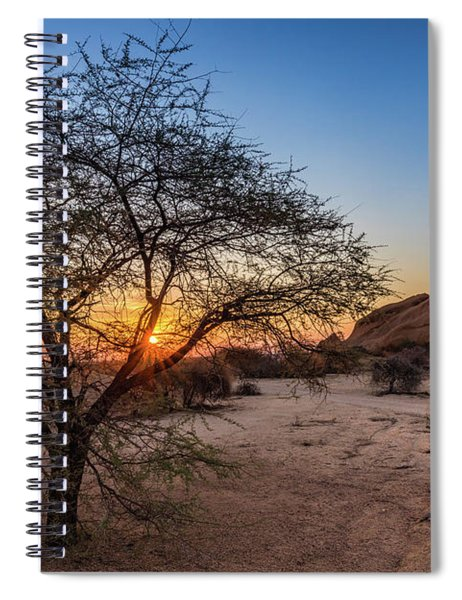 Sunset In Spitzkoppe, Namibia Spiral Notebook
