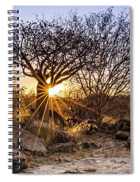 Sunset In The Erongo Bush Spiral Notebook