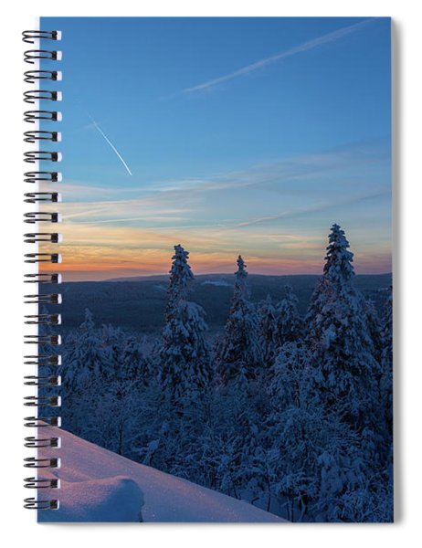 sunset in the Harz National Park, Germany Spiral Notebook
