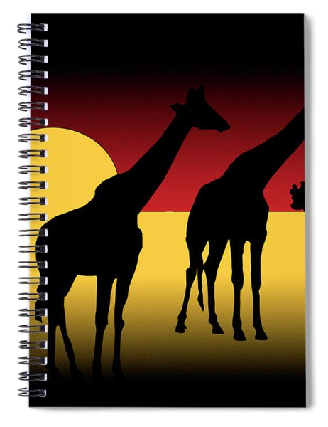 Sunset In The Serengeti Spiral Notebook