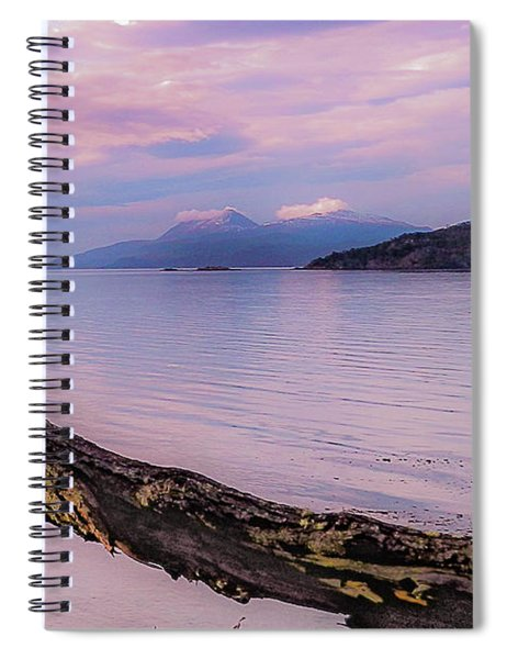 Sunset In Ushuaia Spiral Notebook