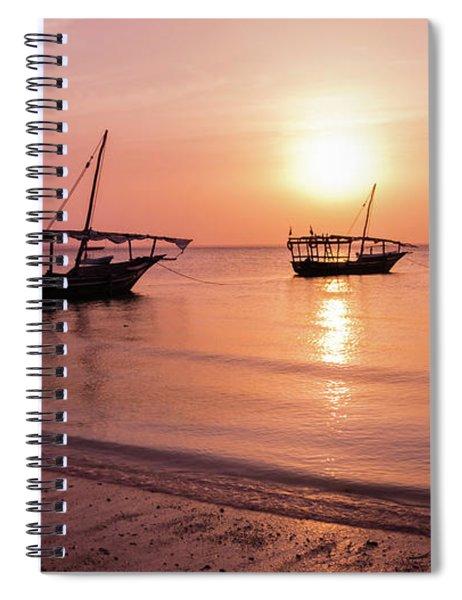 Sunset In Zanzibar Spiral Notebook