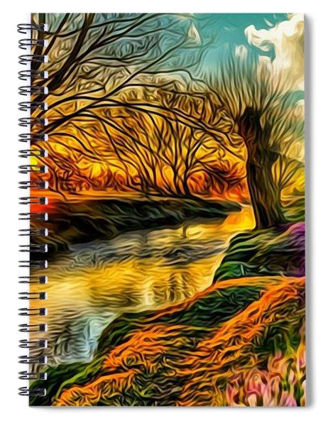 Sunset Landscape Spiral Notebook