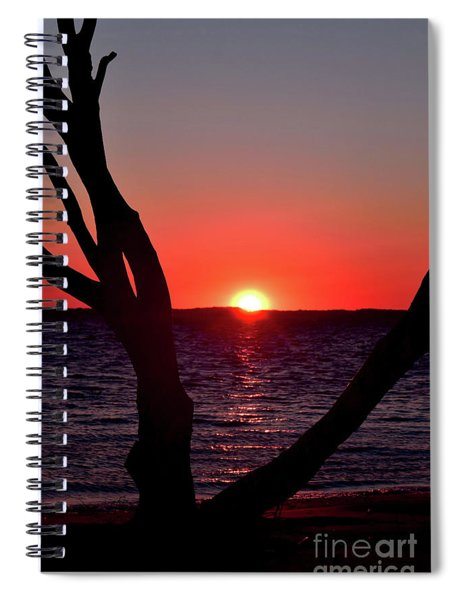 Spiral Notebook featuring the photograph Sunset Northside  by Patti Whitten
