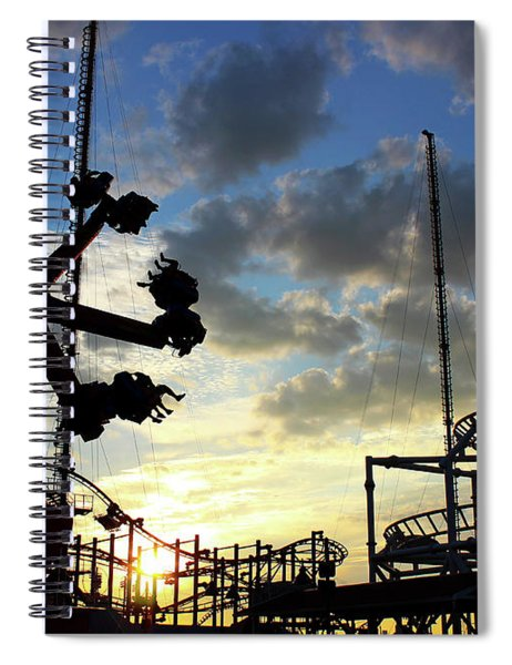Sunset On Coney Island Spiral Notebook