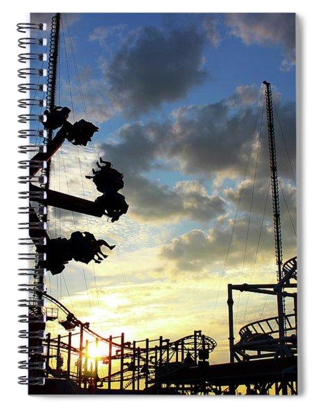 Sunset On Coney Island Spiral Notebook