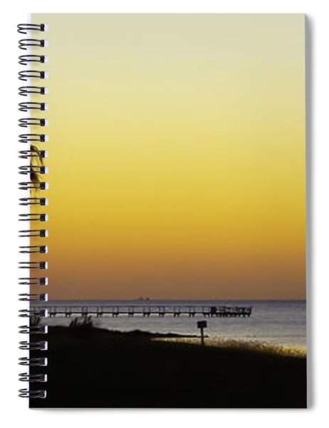 Sunset On Copano Bay, Texas Spiral Notebook
