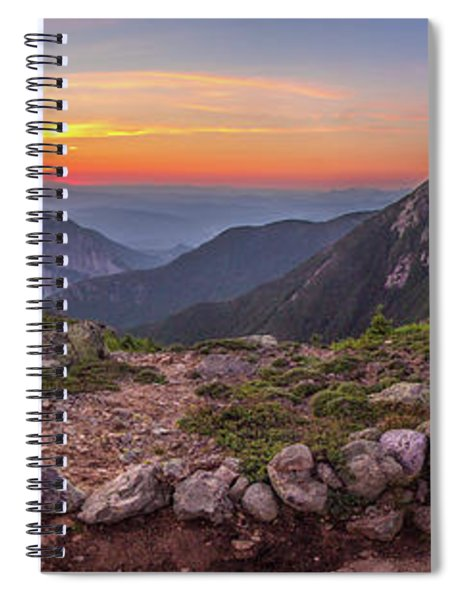 Sunset On Franconia Ridge Spiral Notebook