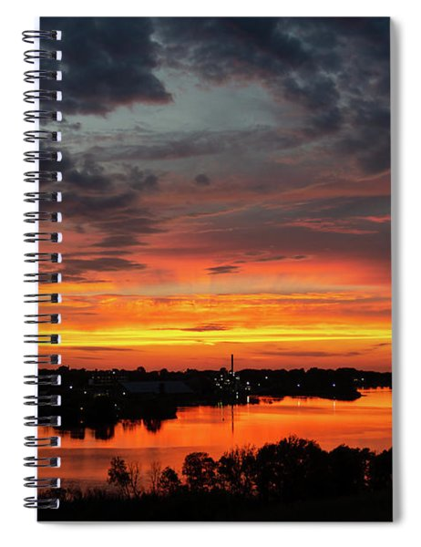 Sunset On Mainstee Lake Spiral Notebook