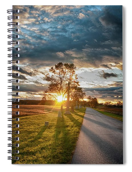 Sunset On The Field Spiral Notebook