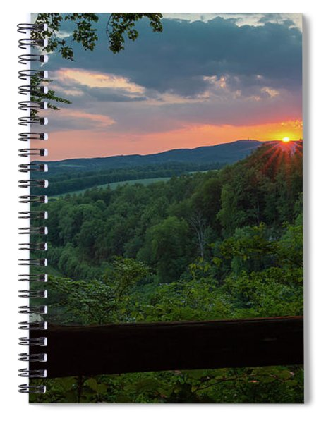 Sunset On The Himmelreich, Southern Harz Spiral Notebook