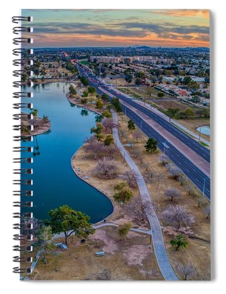Sunset Over Chaparral  Spiral Notebook