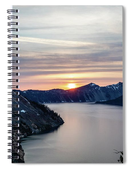 Sunset Over Crater Lake Spiral Notebook
