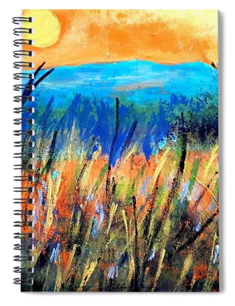 Sunset Over Fields Spiral Notebook