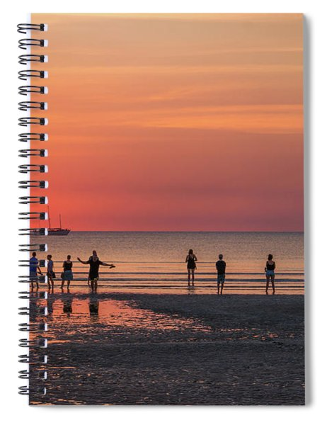 Sunset Over Mindil Beach Spiral Notebook