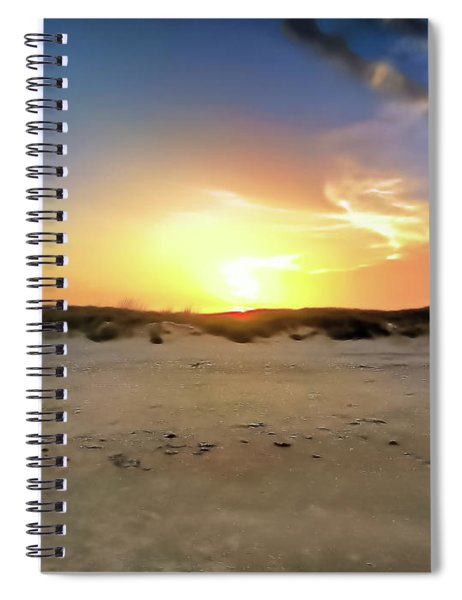 Sunset Over N Padre Island Beach Spiral Notebook