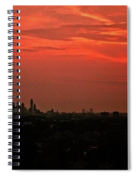 Sunset Over Philly Spiral Notebook
