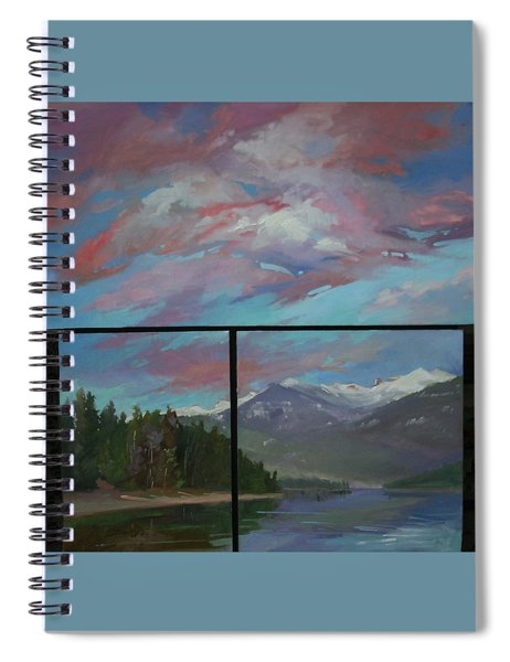 Sunset Over Priest Lake, Id Spiral Notebook